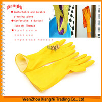 Wholesale New Thick Warm Household Latex Waterproof Gloves Clean Dish Washing Lengthen for Laundry and Kitchen Cleaning Dishwashing order lt no tr