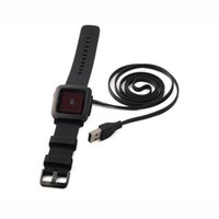 Wholesale 2015 Hot sell Smart Watch USB Charging Cable for Pebble Time Smart Watch CB74 FT Replacement High quality