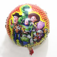 balloon stories - Toy Story Woody Foil Balloons Anime Cartoon Toys Wedding Baby Birthday Party Decoration Christmas Children s gift cm