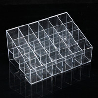 acrylic candy display cases - Fashion Makeup Lipstick Cosmetic Display Rack Holder Stand Organizer Case Clear Acrylic Storage