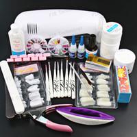 nail starter kit - Professional Full Set UV Gel Kit Starter UV Nail Art Set W Curing UV Lamp Nail Dryer