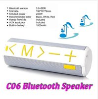 Wholesale 2015 powerful portable A2DP wireless mini bluetooth speaker Speakers Subwoofers with mah battery power C06