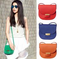 Wholesale 2015 New Fashion Women Handbag Genuine Leather handbags Famous Brand Saddle bags Women Cross body bag Single shoulder bag AAA freeshipping