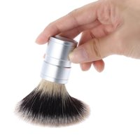Wholesale Professional Beard and Face Cleaning Tool for Male Metal Aluminium Handle Men Shaving Brush W1787