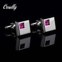 Wholesale Classic Luxury Man Cuff Links Shirt Suit Crystal Square Cufflinks Best Man Gift in Bulk