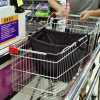 folding shopping cart - Wholesales Lowest Price Eco friendly Shopping Bags Large Capacity Shopping Cart Storage Bag Folding Oxford Cloth Bag ZD0063 Salebags