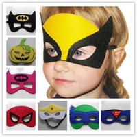 Wholesale Superman mask Halloween mask for children cosplay designs Batman Spiderman mask Chrismas party cosplay for kids
