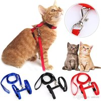 Wholesale New Arrivals Kitten Cat Collars Leashes Adjustable Durable Nylon Colors Fashion Design MD1