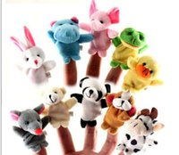 Wholesale Baby Plush Toy Finger Puppets Baby Solft Plush Velour Animal Finger Puppet Talking Props Animails