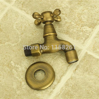 antique furniture finishes - Garden Antique Brass Finish Bathroom Wall Mount Washing Machine Water Faucet Taps bath furniture ZLY