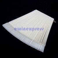Wholesale 50 False Display Nail Art Fan Wheel Polish Practice Color Pop Tip Stick Clear