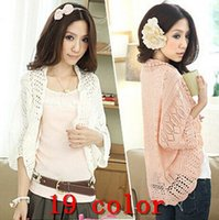 air conditioned computer - 2015 New Fashion Women Thin Cardigan Sweater Knit Hollow Loose Bat Sleeve Casual Shirts Air Condition Shirt Blouse Shawl Women s FG1511