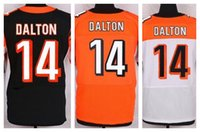 andy cotton - Factory Outlet New Andy Dalton Men Elite Football Jersey Dalton stitched jersey Mix Order size M XL black orange white jerseys