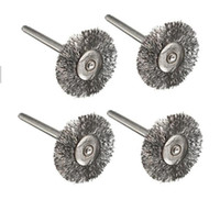 abrasive wire - Best Sale T Shape Mini Steel Wire Wheel Brushes mm Shank Clean for Dremel Rotary Tools Cleaning Practical Abrasive Tools