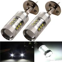 Wholesale LED auto light spotlight mini CREE W LED H1 Super Bright White Fog Tail Turn DRL Head Car Light Daytime LED Eagle Eye