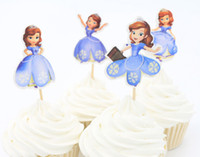 Wholesale Event party supplie Princess Sophia the first Cupcake Topper Pick Wedding decoration girl kids Birthday Party Decoration
