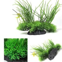 Wholesale Artificial Plastic Water Green Plant Grass for Fish Tank Aquarium Plastic Decor Ornament