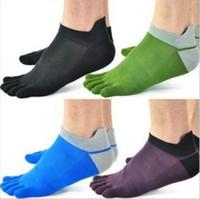 men five fingers socks - New Hot Sale Designer Men Women Sport Mesh Thin Section of Toe Socks Five Fingers Cotton Sock