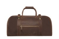 leather duffle bag - Vintage Genuine Cow Leather Duffle Bag Overnight Travel Bag Large Volume Men s Weekend Handbag L1180