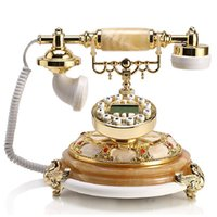 Wholesale 2015 Telefone Antigo Decor Continental Telephone Jade Antique Telephones For Creative Fashion Retro Landline Gift