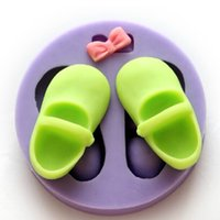 Wholesale New Arrival Shoes Fondant Mold DIY Cake Decorating Tools D Silicone Chocolate Mould Cake Decor FM072