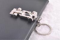 Wholesale Fedex Free Creative Car key chain ornament all wheel racing car keychain lovely F1 key chains Mobile phone strap