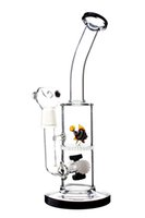animal platform - New cool Animal Shapes Bongs Black and White Four Tires Gear Bubbler Civil Oil Rig Platform cm High connectors