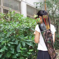 arrow carrier - Camouflage Hunting Arrow Archery Quiver Bag Arrow Carrier For Outdoor Shooting Entertainment Hunt Competition