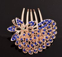 Wholesale Luxury Korean Style Fashion Hairpins Diamond Comb Alloy and Artificial Crystal Rhinestone HairClips for party Wedding Bride Hair