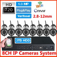 Wholesale NVR CH Video Surveillance HD IP Camera WiFi P ONVIF Wireless Camara IR LED Outdoor TB HDD Security Camera CCTV System