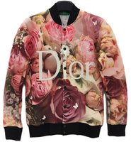 basketball jackets - new women jacket coat winter warm clothes d flower jacket beautiful re beautiful red rose print basketball pullover harajuku coat