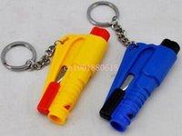 Wholesale in Multi Function Broken Car Window Escape Tool keychain Life saving Hammer car safety hammer