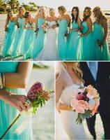 to make money - Hot money wipes bosom sleeveless heart light blue chiffon dress to the floor length bridesmaid dress back zipper