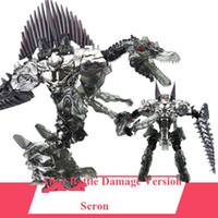 abs battle - New Arrival Deformation Movie Scron Robot Dinosaur Model ABS Alloy Action Figure Toy Boy Gift Battle Damage Version
