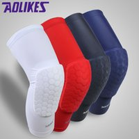 Wholesale Honeycomb Pad Lycra Crashproof Antislip Basketball Football Volleyball Leg Knee Pad Long Sleeve Protector