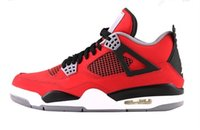 mens basketball shoes for cheap - Cheap s high quality red Retro mens basketball shoes j4 outdoor sneaker low top athletic trainer action leather sports shoes for men