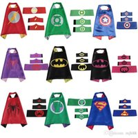 batman christmas stocking - Superhero Capes for kids batman cape with masks for children party set cape mask belt pair wristband in stock
