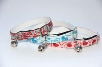 band dog collars - 25 Cat Collar with Bell and Elastic Band Pet Dog Shiny Soft and Comfortable Drop Shipping Pet Products C2013