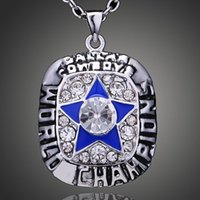 Wholesale N F L champion necklace Super Bowl champion Dallas Cowboys necklace Jewelry Collection
