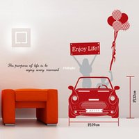 backdrop outlet - Wall stickers home decoration Creative wall stickers factory outlets AY6010 car sticker living room decorative backdrop sticker plane sticke