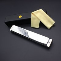 Wholesale High Quality Swan Key of G Double Holes Mouth Organ Tremolo Harmonica with Reeds with Case Cleaning Cloth New Hot