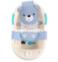 Plastic bathtub supports - 20pcs Adjustable baby bathtub cartoon pattern Newborn Safety Security Bath Seat Support Baby Shower Baby Bath shower product