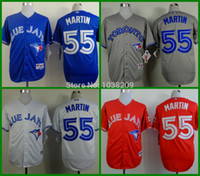 Wholesale 2015 Toronto Blue Jays jersey Russell Martin Blue Red Grey White Jersey Baseball Jersey Stitched Name Lettering