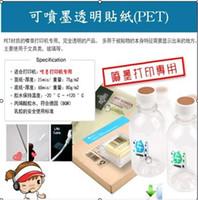 Wholesale No shipping charge ultrathin PET inkjet laser printer A4 size inkjet transparent sticker labels