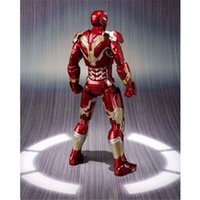 american film action - Marvel s The Avengers iron Man cm Genuine BANDAI SHF Figma Action Figure Toys American film prototype toys Kids Like This Doll