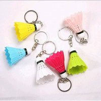 badminton gift items - DHL Freeshipping new items badminton keychain keyring for sports birthday gift