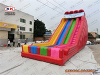 adult party rentals - 30ft tall commercial giant three lane inflatable rainbow dry slide for sale big slides for adults n kids party rentals