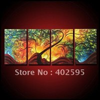 abstratc art - abstract wall art oil painting on canvas home decoration panels new arrival abstratc trees P202307