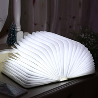 Wholesale LED Book light Creative flip books Nightlight LED Book Light folding rechargeable flip bedside lamp decorative lamp