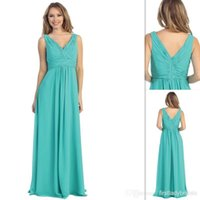Cheap turquoise bridesmaid dress Best v neck bridemaid Dresses